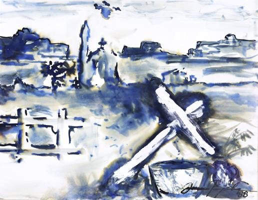 Paesaggio con Croci